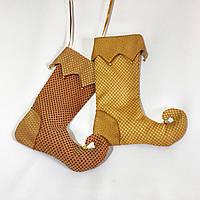 Новогодний носок для подарков №36