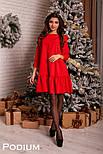 Женское платье свободного кроя с рюшами (4 цвета), фото 3