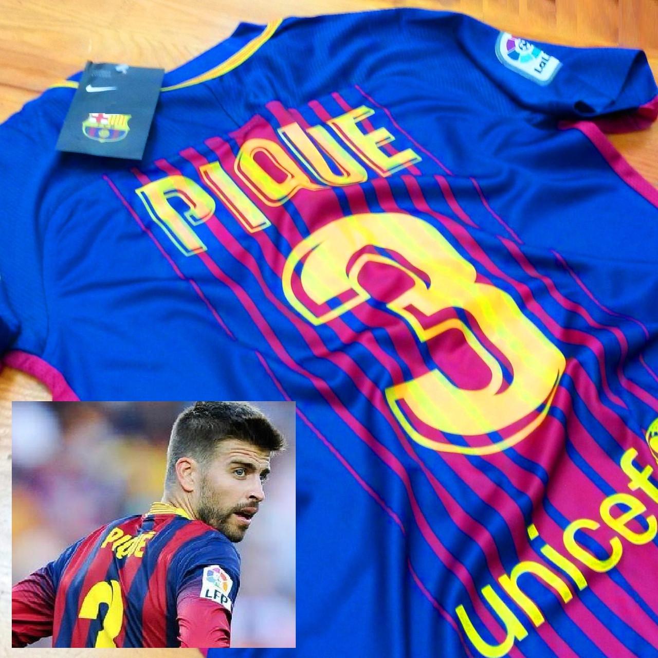 Детская футбольная форма Барселона  (№3 Жерар Пике)