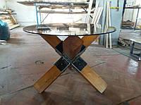 Кофейный журнальный столик ёж противотанковый  в лофт loft стиле ручной работы мебель из натурального дерева