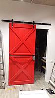 Амбарные раздвижные двери x в лофт loft стиле