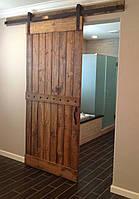 Амбарные раздвижные двери  в лофт loft стиле