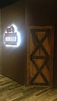 Межкомнатные двери в лофт loft стиле из массива дерева и металла