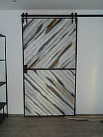 Крутые Амбарные раздвижные двери из натурального дерева и металла в лофт loft  скандинавском стиле