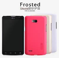 Чехол для LG Optimus L80 D380 - Nillkin Super Frosted Shield (пленка в комплекте)