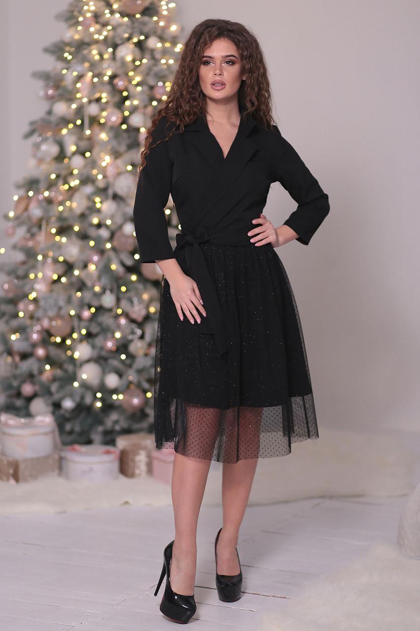 Нарядное черное Платье с пышной юбкой - LILIT ODESSA - женская одежда - опт  - розница 6477bce908c