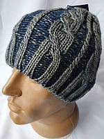 Теплая модная зимняя мужская шапка