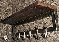Крючки в прихожую для верхней одежды из дерева и металла в лофт стиле