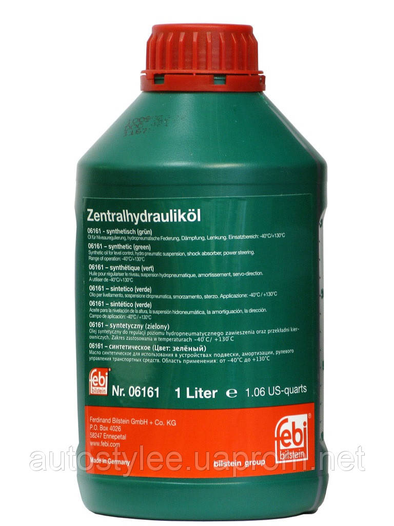 Масло ГУР Febi (зеленая) синтетика 06161  1 л.