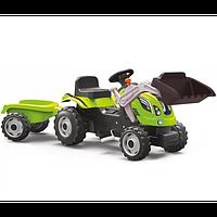 Трактор педальный с ковшом и прицепом Smoby Farmer Max 710109