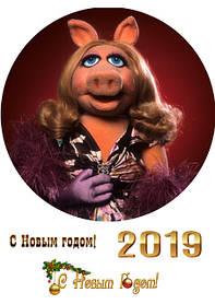 Круглые картинки новый год