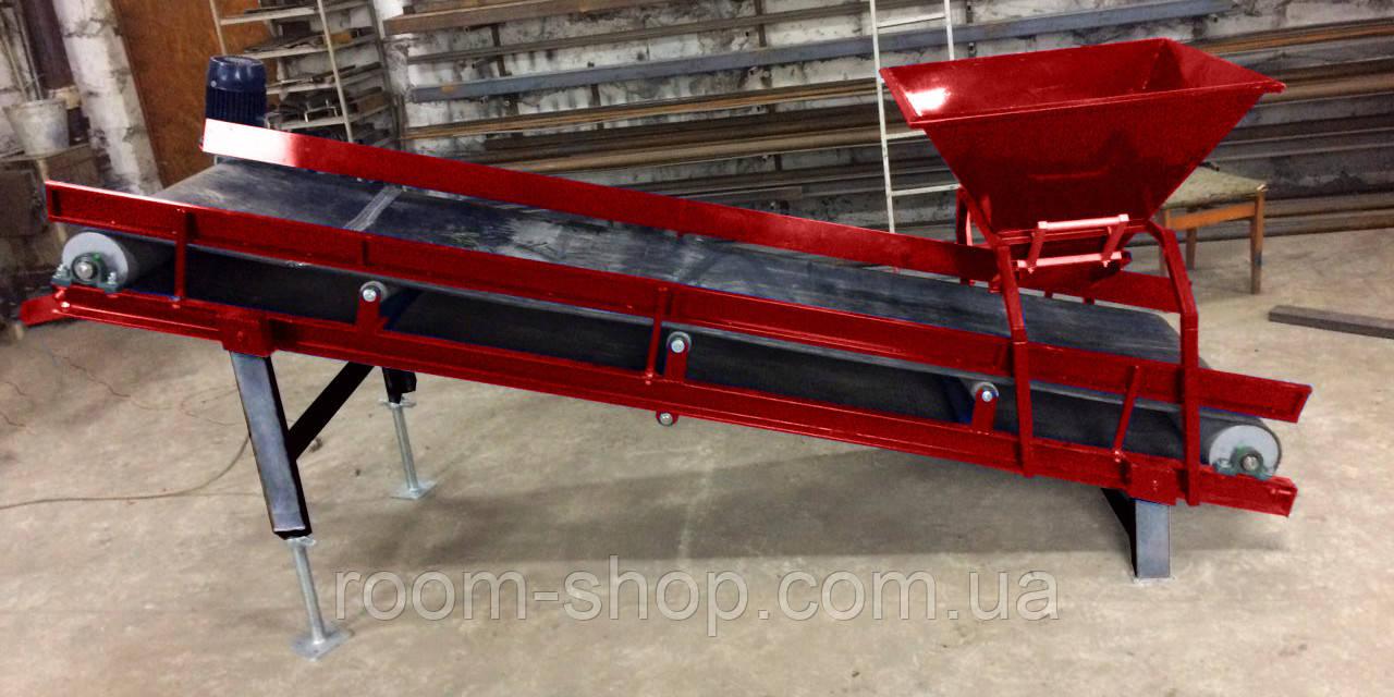 Ленточный погрузчик (конвейер) ширина 600 мм длинна 8 м.