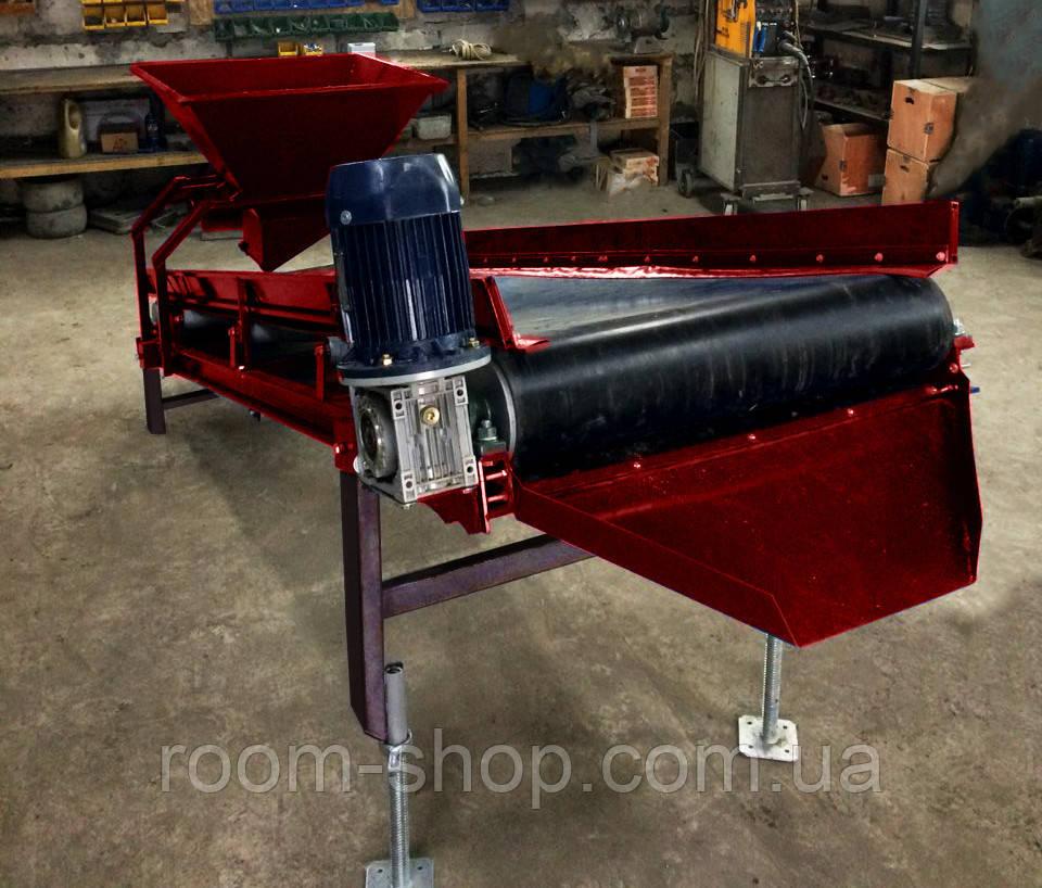 Конвейер ленточный транспортер ширина 200 мм длинна 9 м.