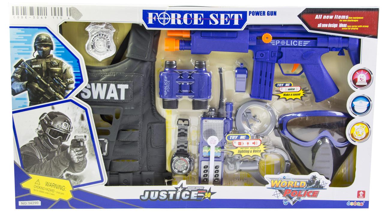 Детский набор полицейский SWAT с бронежилетом (34290)  Гарантия качества Быстрая доставка