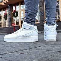 "Мужские Зимние Кроссовки Nike Air Force Mid Winter ""White"" Реплика"