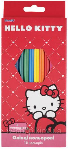 Карандаши цветные Hello Kitty, Princess,Toy Story,12 цветов