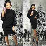 Женское прямое платье с карманами (3 цвета), фото 5