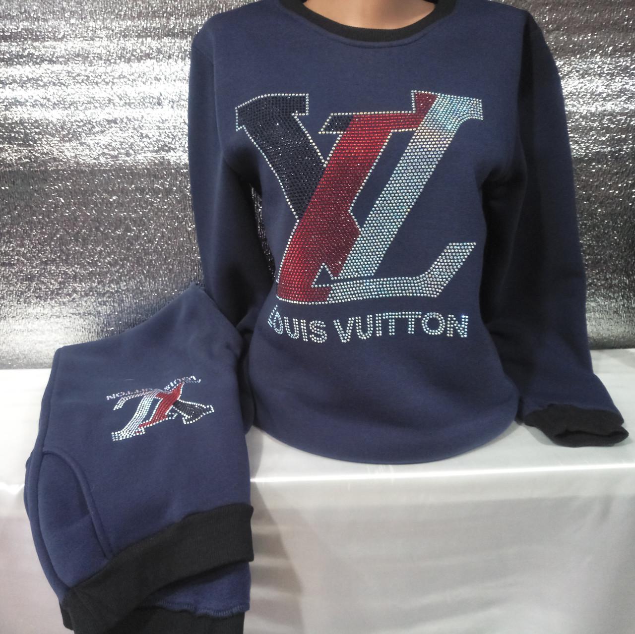 Спортивный костюм на флисе женский ПОЛУБАТАЛЬНЫЙ Louis Vuitton (XL 48-50) 7b92815754f
