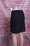 Джинсова спідниця Zeo Basic на гудзиках спереду чорного кольору, фото 4