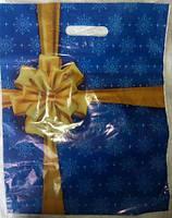 Пакет с прорезной ручкой 35х45/50мкм (Новый Год), 50шт/уп