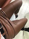 Женские брюки из эко-кожи утепленные (2 цвета), фото 2