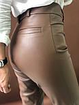 Женские брюки из эко-кожи утепленные (2 цвета), фото 4