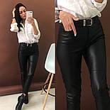 Женские брюки из эко-кожи утепленные (2 цвета), фото 3