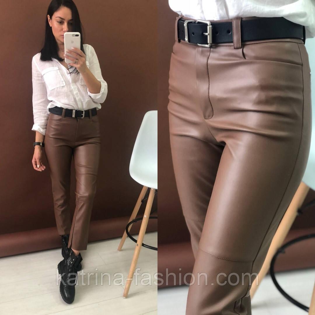 Женские брюки из эко-кожи утепленные (2 цвета)