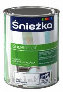SUPERMAL олійно-фталева чорна 0,8мл/0,9кг F520, RAL9005 /PL