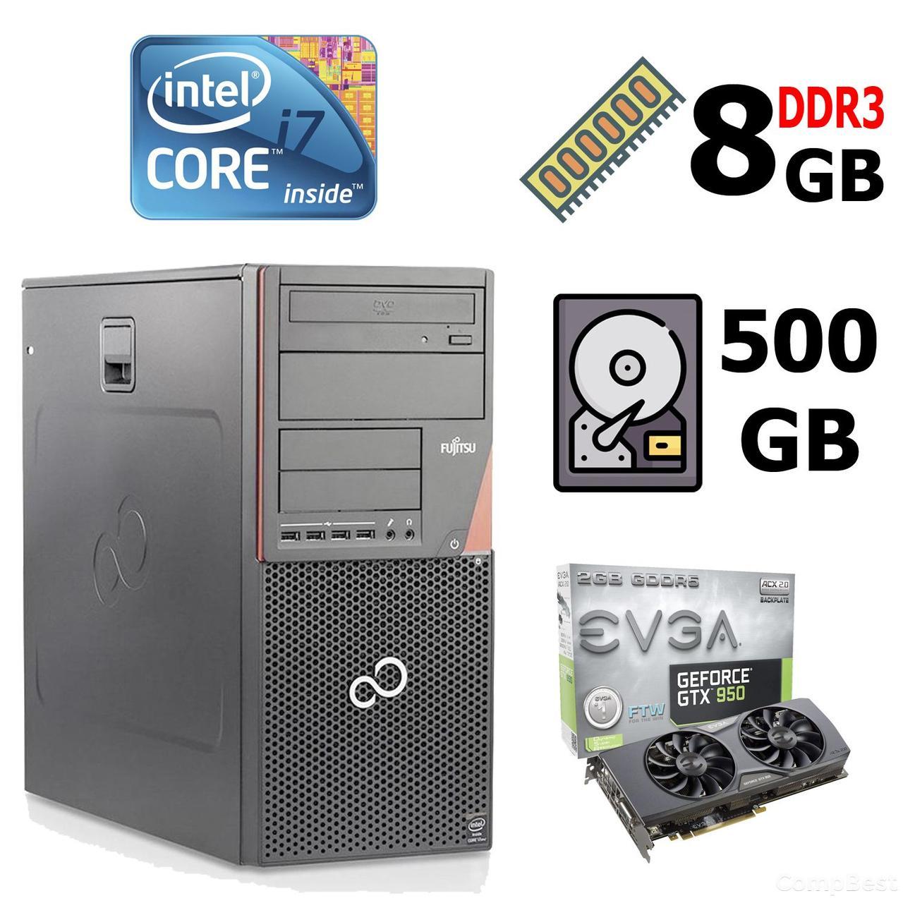 Fujitsu-Siemens Esprimo P920 E85+ MT / Intel® Core™ i7-4770 (4 (8) ядра по 3.40 - 3.90 GHz) / 8 GB DDR3 / 500 GB HDD / nVidia GeForce GTX950 (2GB