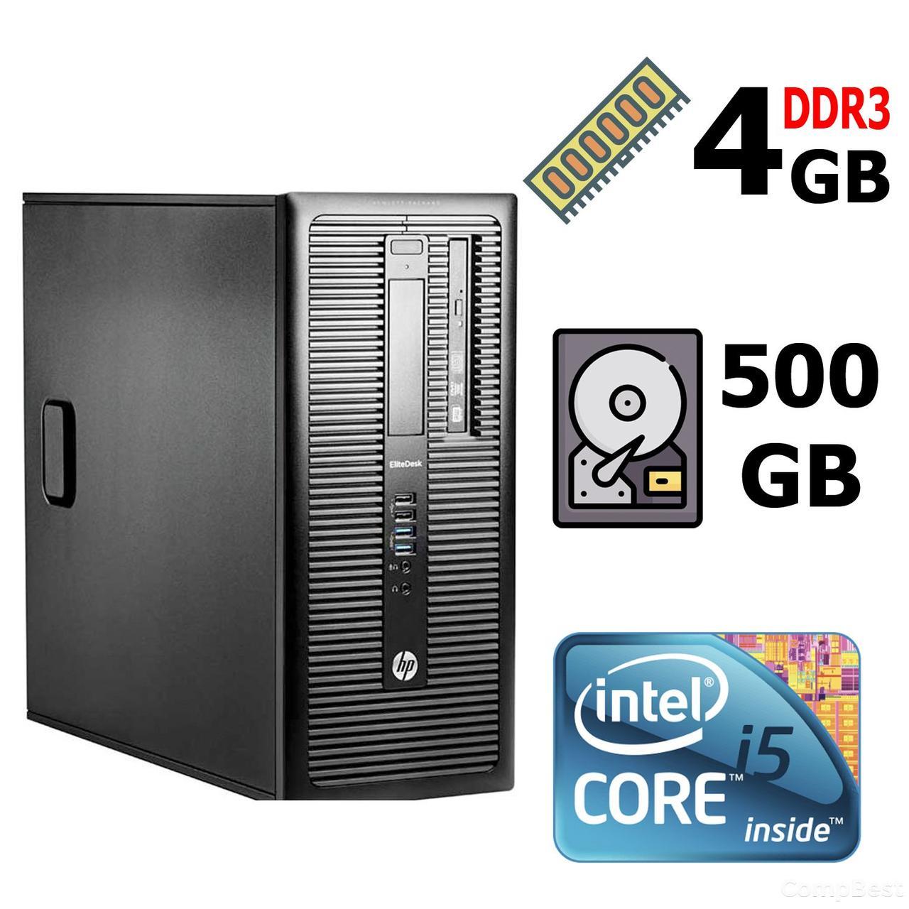 HP EliteDesk 800 G1 SFF / Intel® Core™ i5-4570 (4 ядра по 3.20 - 3.60 GHz) / 4 GB DDR3 / 500 GB HDD / Intel HD Graphics 4600