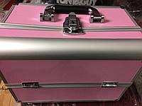 Чемодан мастера металлическая раздвижная (розовый), фото 1