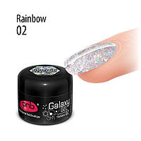 Гель PNB Galaxy Gel 02 Rainbow, 5 мл