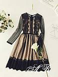 Женское праздничное платье с французским кружевом, фото 2