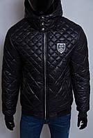 Куртка мужская зимняя Philipp Plein VZ 1549 черная реплика