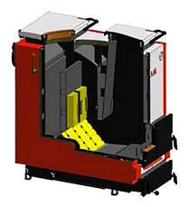 Шахтный котел длительного горения Маяк КТШ ECO LONG BURNING 20 кВт, фото 3