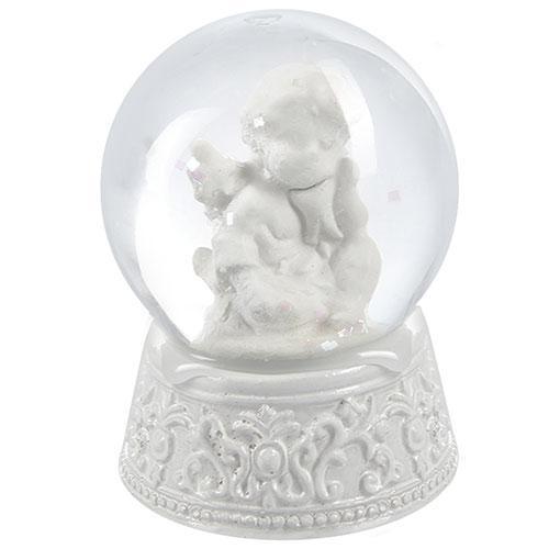 "Фигура снежный шар ""Ангелочек"" 7см"
