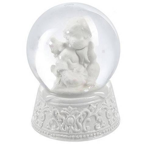 """Фигура снежный шар """"Ангелочек"""" 7см, фото 2"""