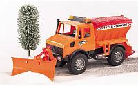 Игрушка - снегоуборочный автомобиль MB Unimog М1:16 BRUDER (02572)