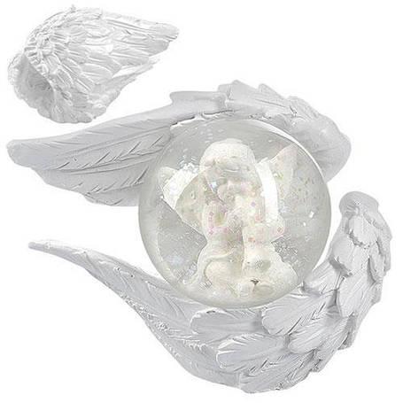 """Снежный шар """"Крылья ангела"""" 7см, фото 2"""