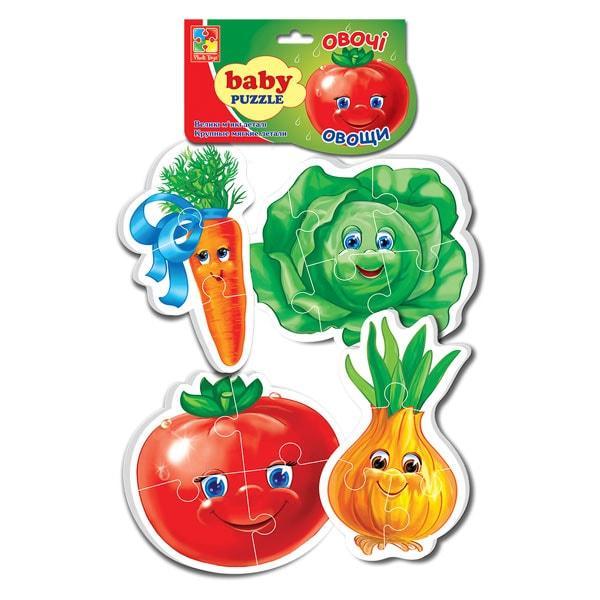 """Гра настільна """"Бебі пазли. Овочі"""", Vladi Toys"""