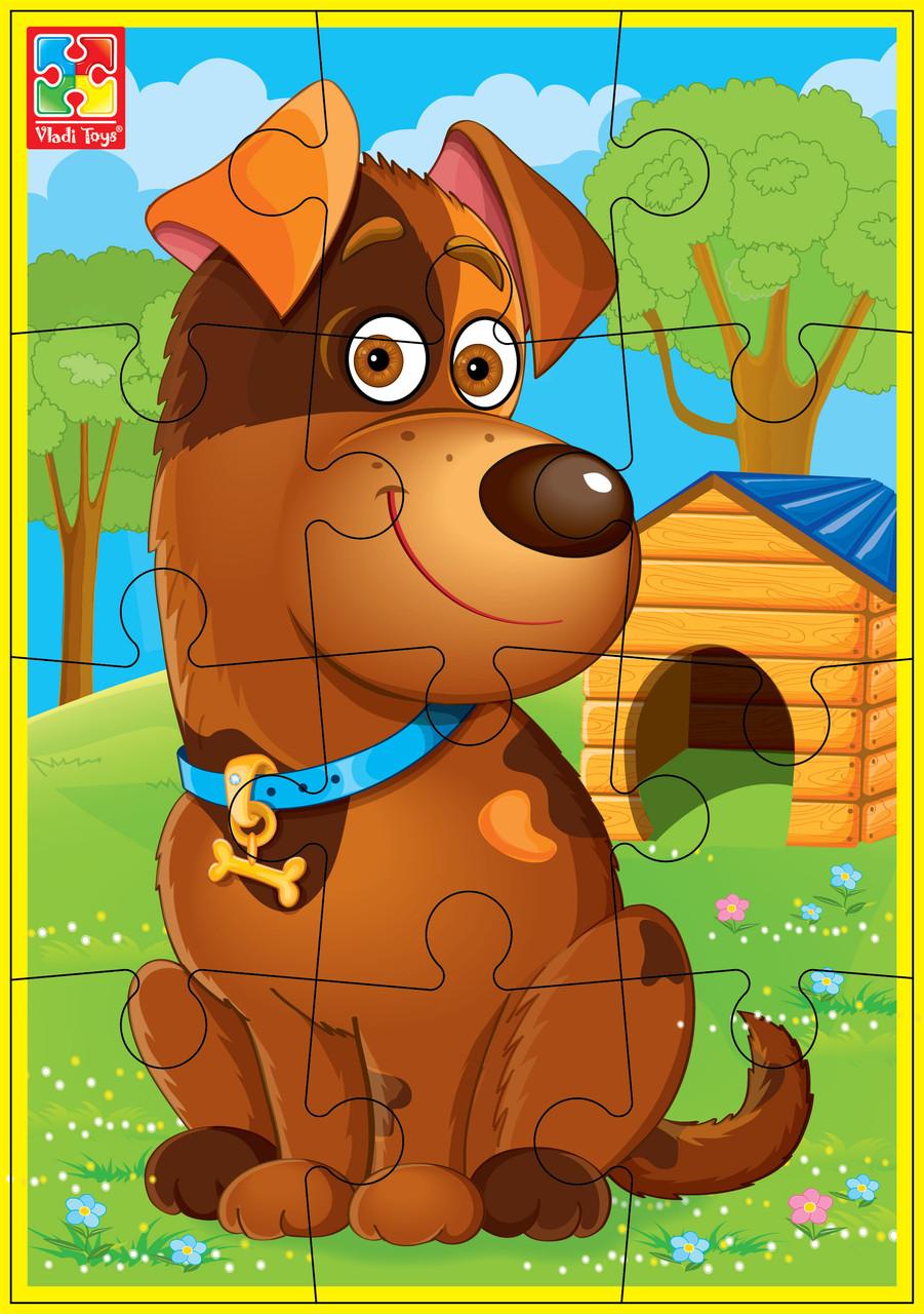 М'які пазли А5 «Улюбленці» Собака, Vladi Toys