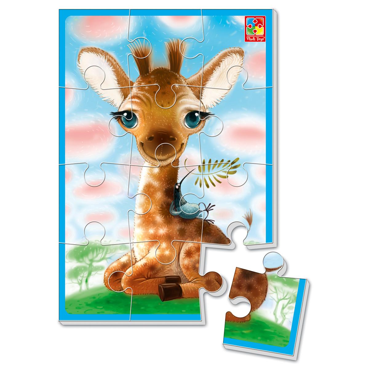 """М'які пазли А5, """"Жирафчик"""", Vladi Toys"""