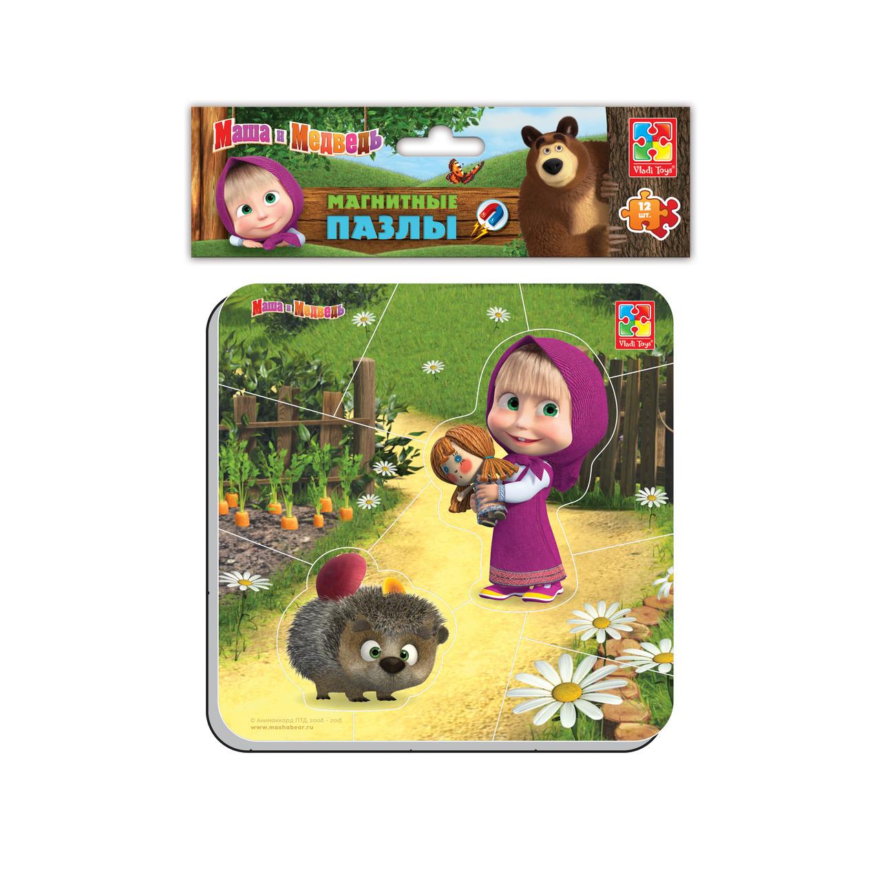 Магнітні пазли «Маша і Ведмідь», Vladi Toys