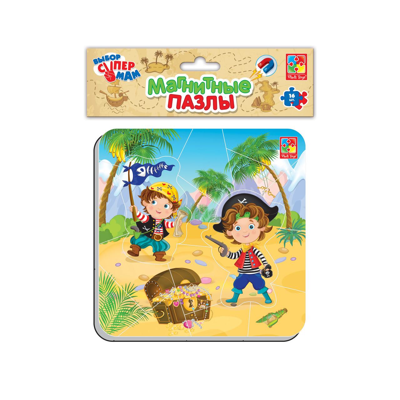 Магнитные пазлы «Пираты», Vladi Toys