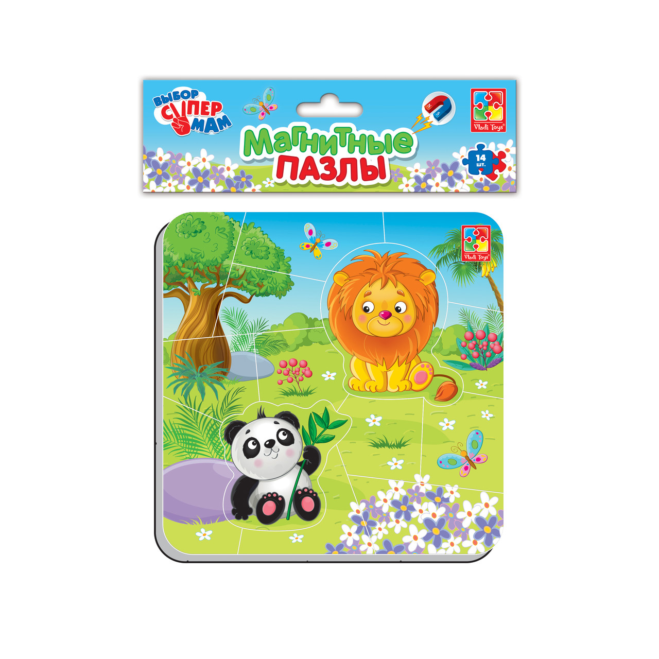 Магнитные пазлы «Зоопарк», Vladi Toys