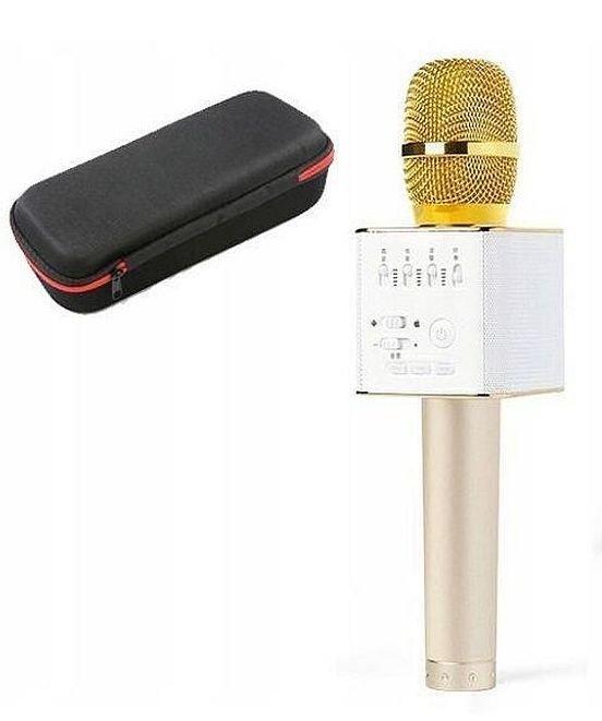 Беспроводной микрофон караоке q9 в чехле, Gold