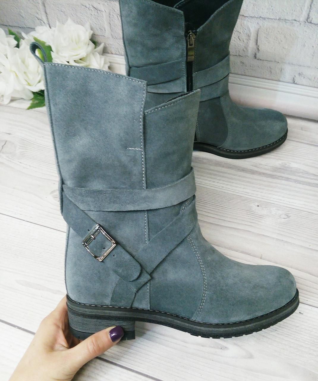 Замшевые серые ботинки от производителя