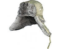 Шапка-вушанка мембранна з хутром Norfin ARDENT (підкл.натур.хутро / олива) р.L