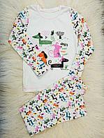 Детская пижама (кофта и штаны) из интерлока для девочек OBABY (396-110)